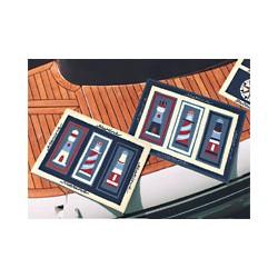 Tapis d'entrée décor marine Phare - set de 2 - 1121