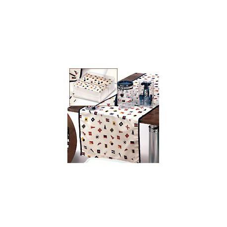 Chemin de table avec serviettes Régate lot de 2 - 1129 LOT DE 2 CHEMINS + SERVIETTES