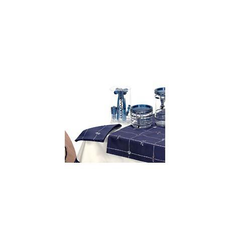 Chemin de table avec serviettes Neptune - 1134 LOT DE 2 CHEMINS + SERVIETTES