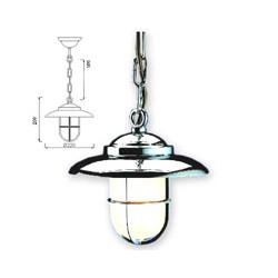 Lampe suspension BAYONNE chromée - 9642CR