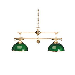 Suspension Billard double opaline verte 95 cm - 1911A OPALINE BLANCHE
