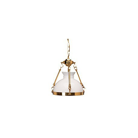 Suspension rustique marine Naples - 1913A OPALINE BLANCHE