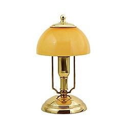 Lampe de bureau Tribunal H 23 cm - 1916A OPALINE BLANCHE