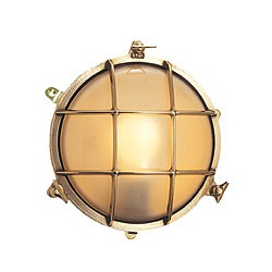 Lampe hublot applique en laiton Bretagne - 1923A 21,5 cm VERRE TRANSPARENT