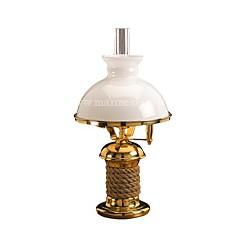 Lampe marine laiton sur pied CORDAGE - 2006A OPALINE BLANCHE