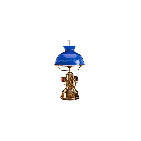 Lampe marine laiton sur pied PHARE - 2007A OPALINE BLANCHE