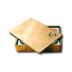 """Coffret de deux jeux de cartes """"ancre"""" - 9653"""