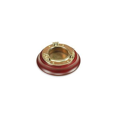 Cendrier hublot base bois - 2101