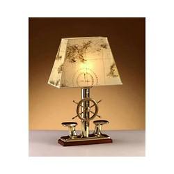 Lampe abat-jour sur pied barre à roue - 2210C